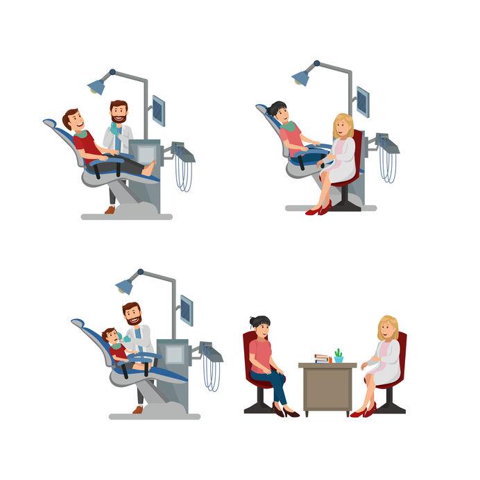 Illustrazione dentisti